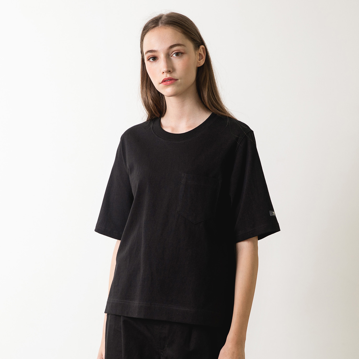25% OFF_WOMEN MARY POCKET T (Black)