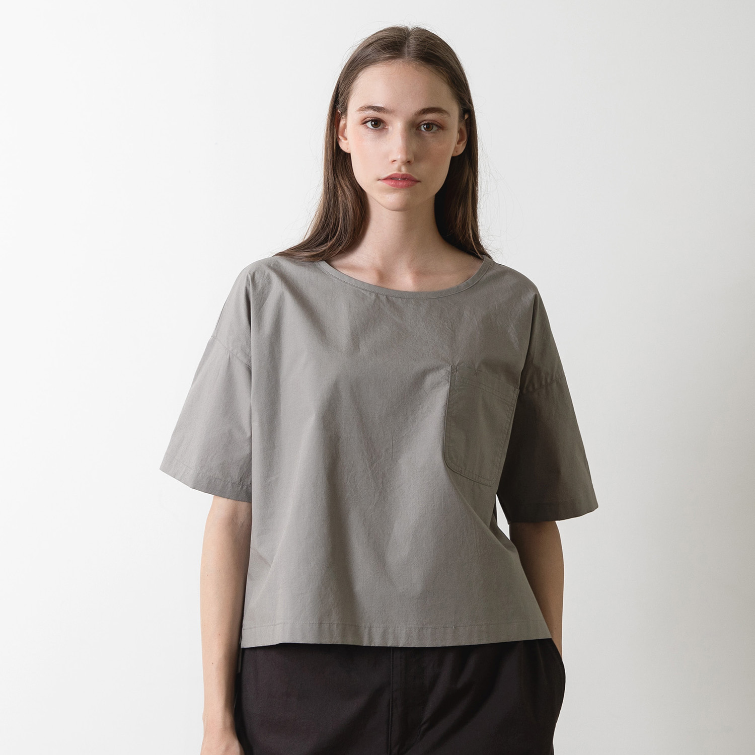 25% OFF_WOMEN GARDENER SHIRT (Pale Gray)
