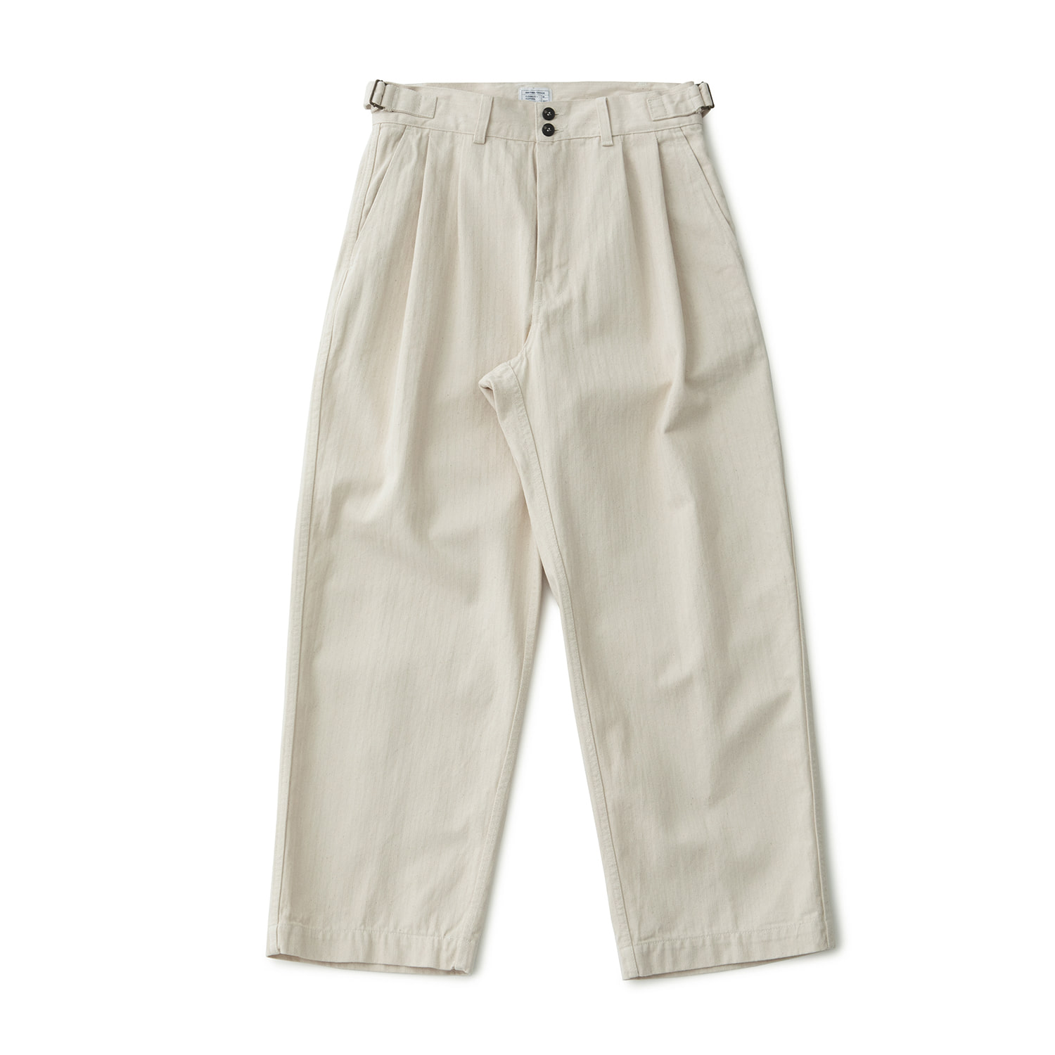HBT Wide Twotuck Pants (Ecru Nep)