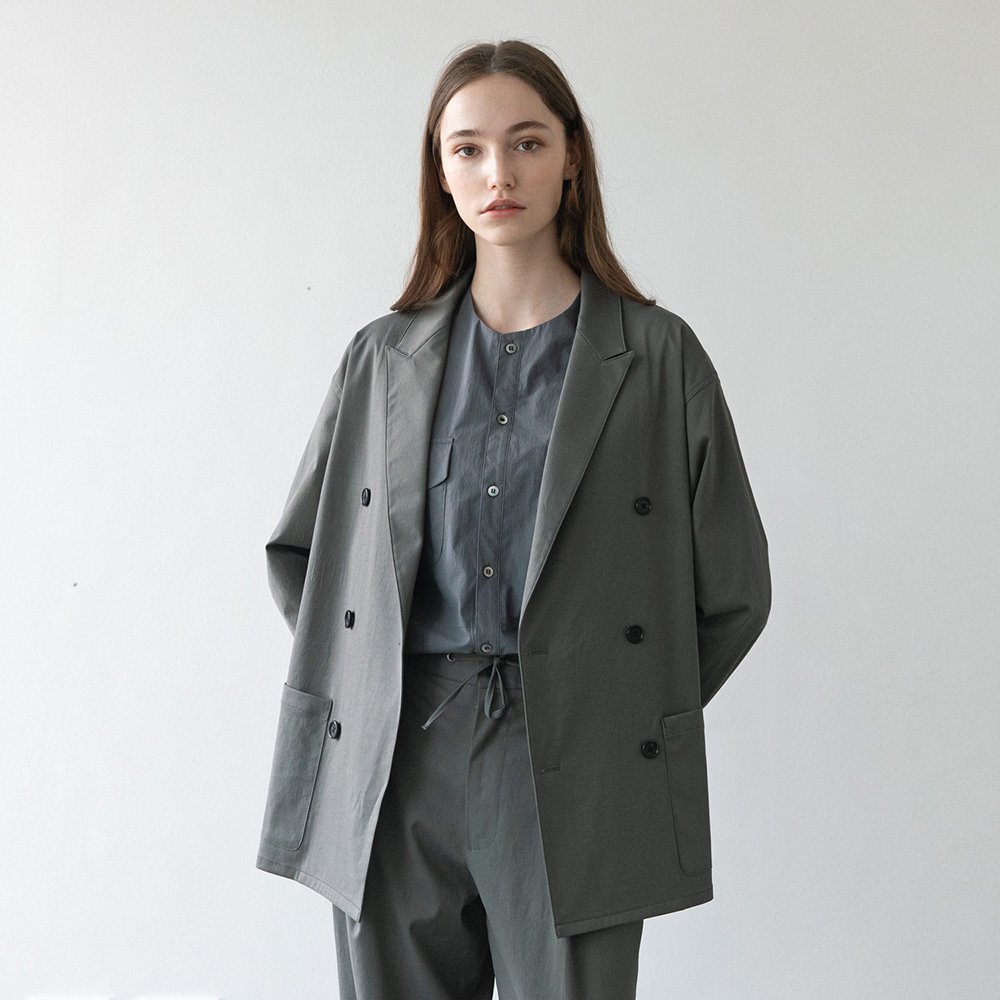 21SS Women Habana Double Jacket (Elephant Gray)