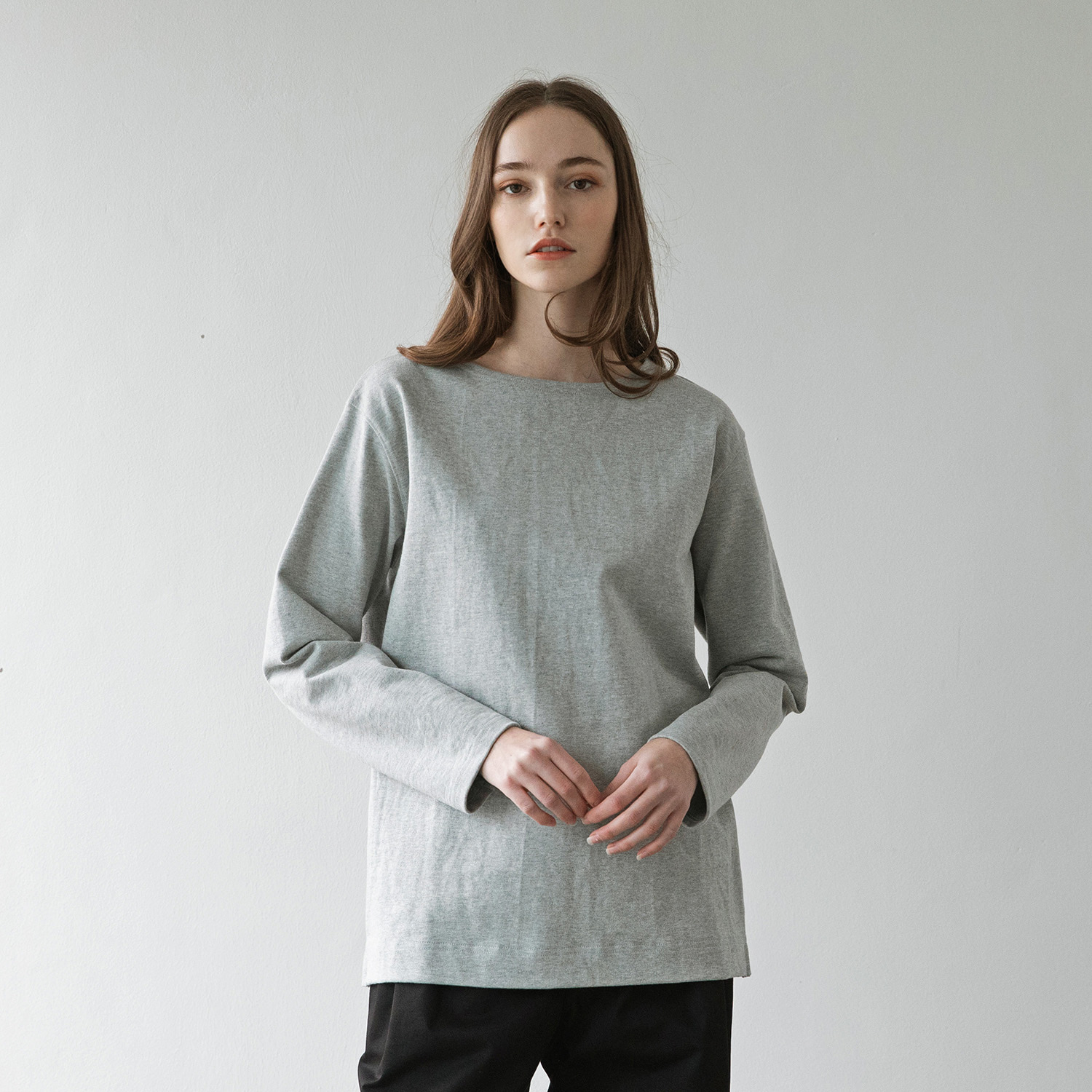 Women Upright Basqueshirt (Heather Gray)