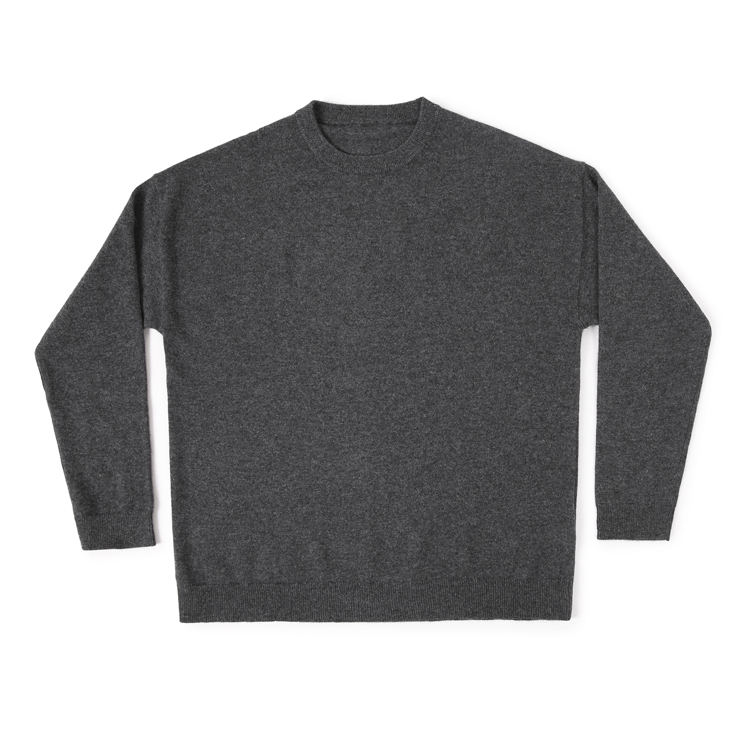 25%OFF_Cashmere100 Oversized Knit (Charcoal)