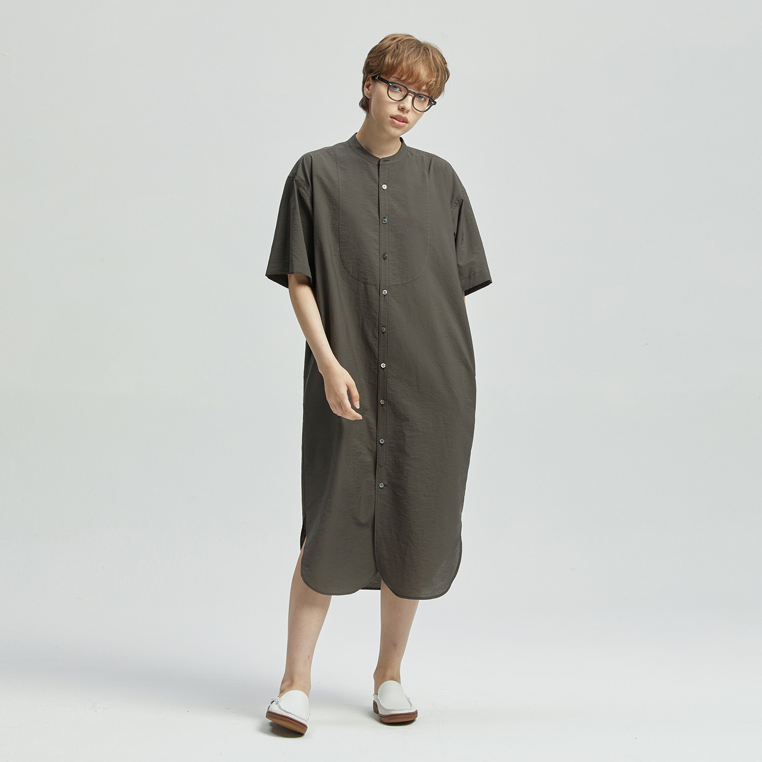 Editor Shirtdress (Pewter)