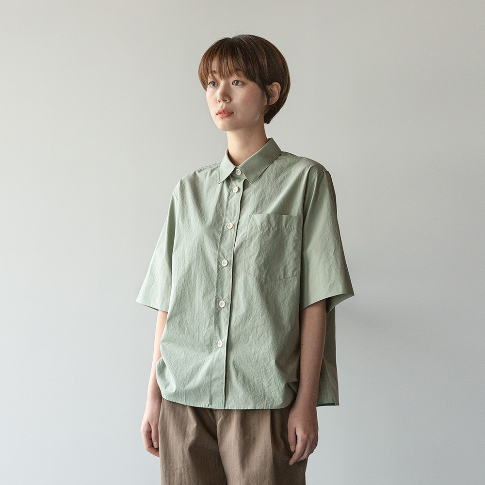 [재생산중]Women Reporter Shirt (Smoky Olive)_7/30~8/3 재입고