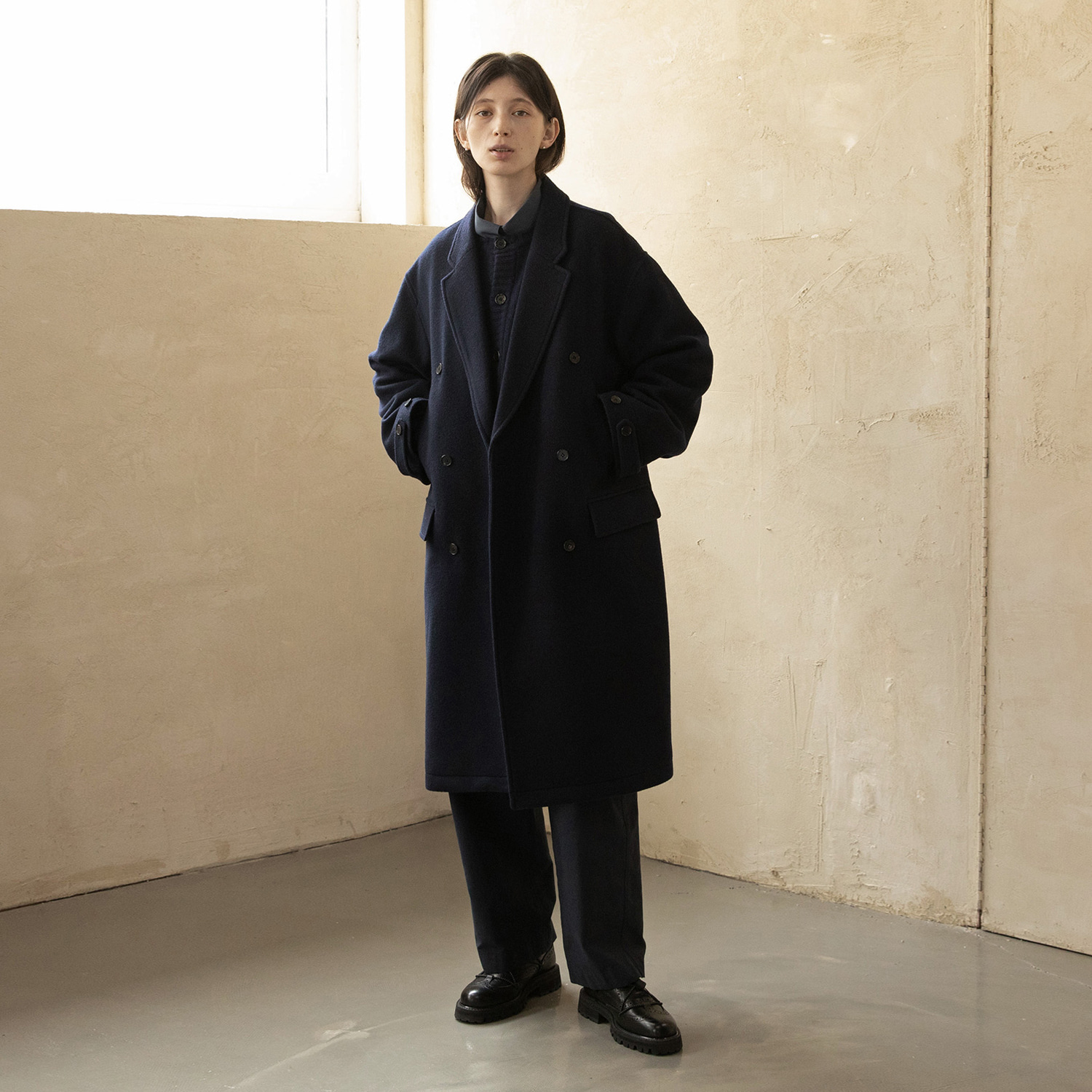 Women Plenty Mosser Coat (Solid Navy)