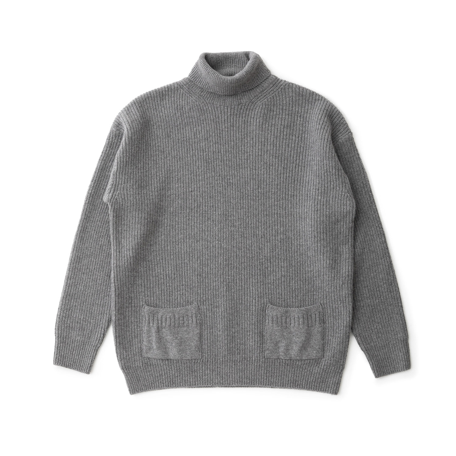 Ample Cashmere Turtleneck Pullover (Heather Gray)