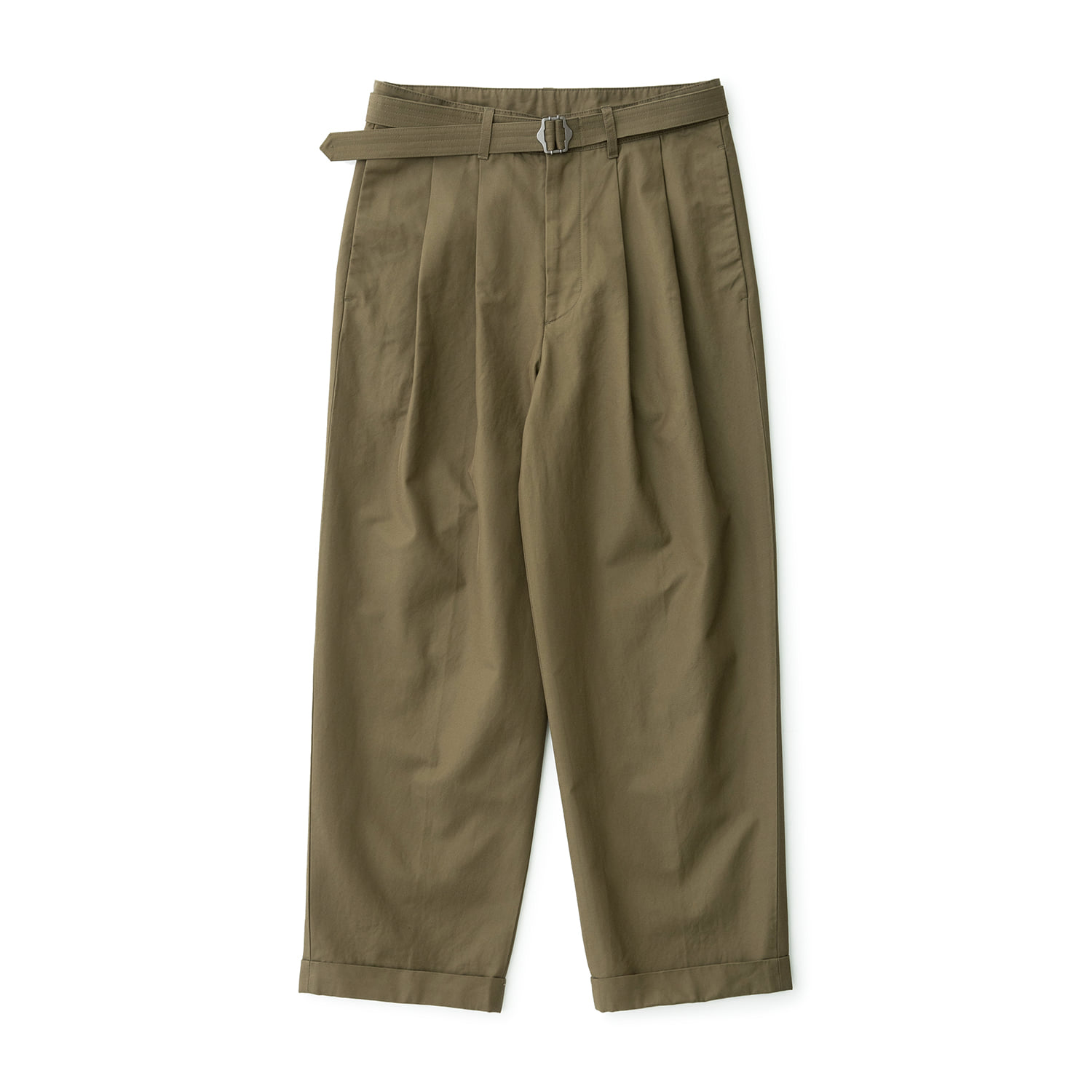 Balance Belted Turn Up Pants (Tate Olive)